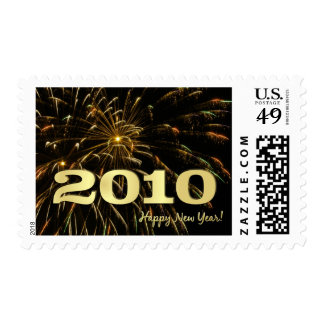 2010 Happy New Year - Holiday Postage Stamps