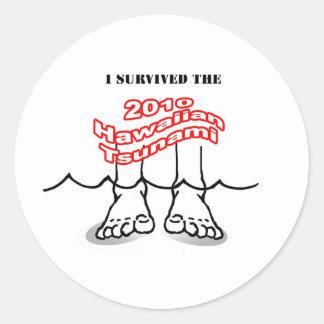 2010 Hawaiian Tsunami Classic Round Sticker