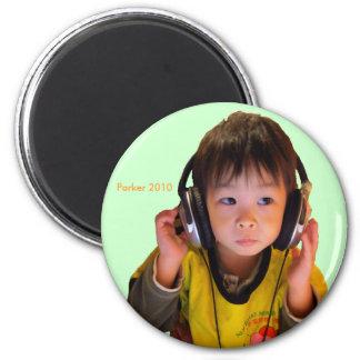 2010 Headphones Refrigerator Magnet
