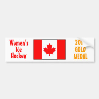2010 hockey sobre hielo de las mujeres de Canadá - Pegatina De Parachoque