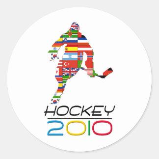 2010: Hockey Round Sticker