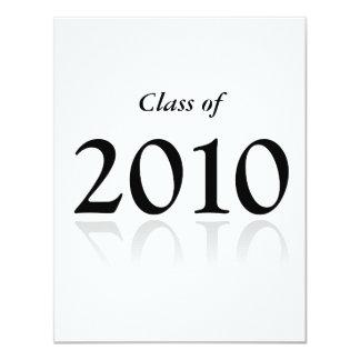 """2010 invitaciones de la graduación - w invitación 4.25"""" x 5.5"""""""