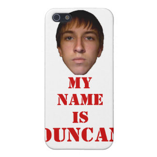 2010 iPhone 4 Case, My name is Duncan Cover For iPhone SE/5/5s