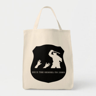2010 is the sequel to 1984 b grocery tote bag
