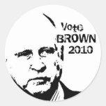 2010 Jerry Brown Round Stickers