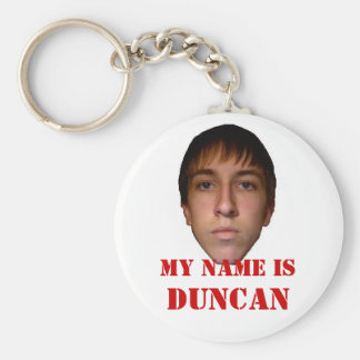2010 Keychain, My name is Duncan Basic Round Button Keychain