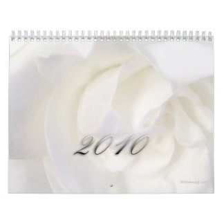 2010 - La belleza de flores Calendario