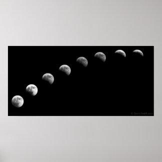 2010 Lunar Eclipse Time Lapse Poster