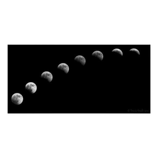 2010 Lunar Eclipse Time Lapse Posters