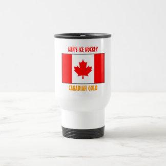 2010 Men's Ice Hockey - Canadian Gold Travel Mug