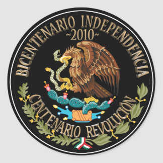 2010 Mexican Independence/Revolution Classic Round Sticker