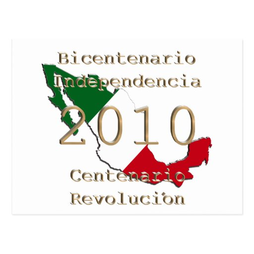 2010 - Mexico's  Historic Year Postcard