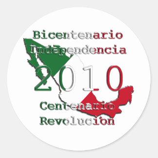 2010 - Mexico's  Historic Year Classic Round Sticker