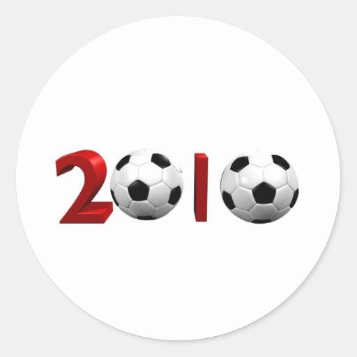 2010 mundiales pegatina redonda