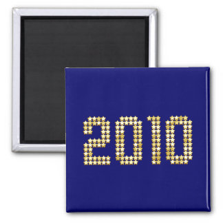 2010 New Years gold stars New Year Gifts Magnets