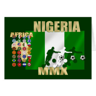 2010 Nigeria Soccer goal circles artwork gear Card