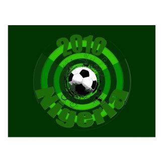 2010 Nigeria Soccer goal circles artwork gear Postcard