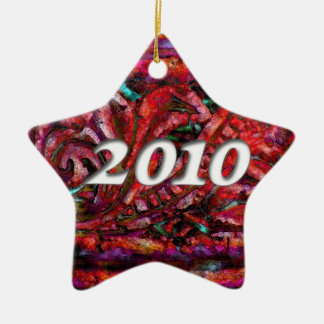 2010 on Rosy Dreams Abstract #1 Ceramic Ornament