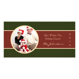 2010 Red Green Sophisticated Holiday Photo Cards