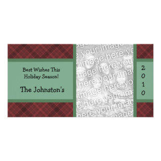 2010 Red Plaid Country Charm Holiday Photo Cards