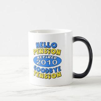 2010 Retirement 11 Oz Magic Heat Color-Changing Coffee Mug