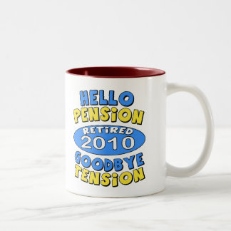 2010 Retirement Two-Tone Coffee Mug