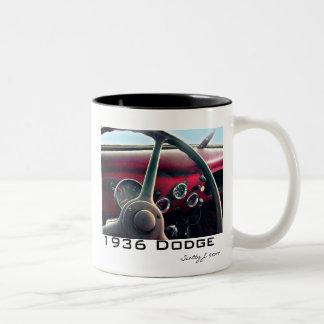 """© 2010 S.J. de """"1936 Dodge"""" Tazas De Café"""