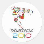 2010: Snowboard Pegatina Redonda