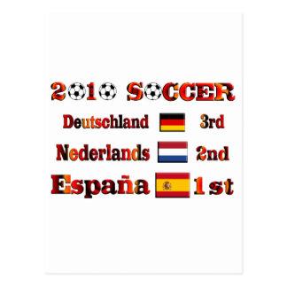 2010 Soccer Championship Results Postcard