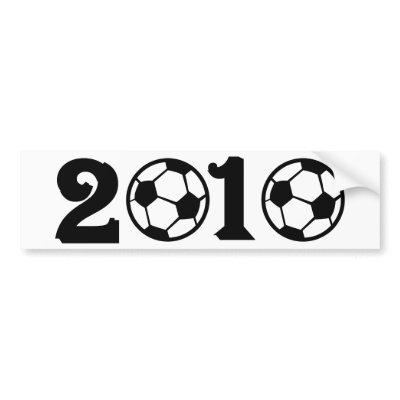 2010 Soccer Football World Cup bumper sticker $ 4.75