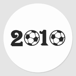 2010 Soccer Football World Cup Classic Round Sticker