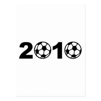 2010 soccer postcard