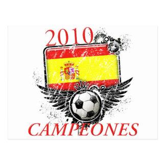 2010 Spain Campeones Postcard