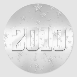 2010 stars silver 2010 gifts and 2010 Tees Classic Round Sticker