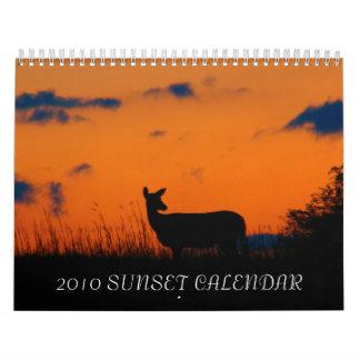 2010 SUNSET CALENDAR