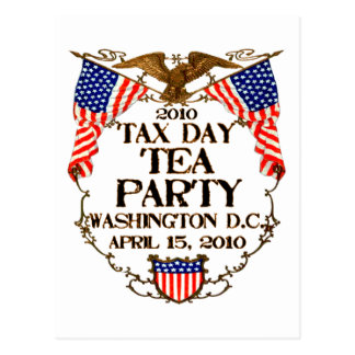 2010 Tax Day Tea Party Postcard
