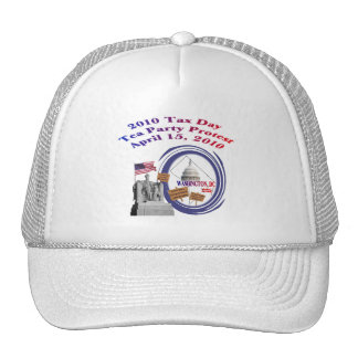 2010 Tax Day Tea Party Protest – Lincoln Memorial Hats