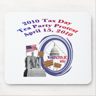 2010 Tax Day Tea Party Protest – Lincoln Memorial Mouse Pad