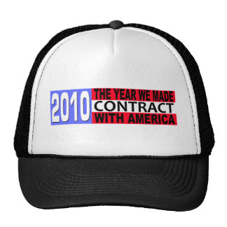 2010 The Year we Made CONTRACT with America Trucker Hat