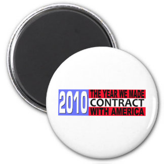 2010 The Year we Made CONTRACT with America 2 Inch Round Magnet