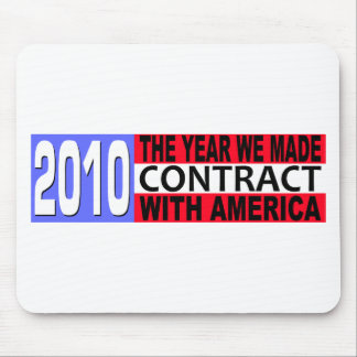 2010 The Year we Made CONTRACT with America Mouse Pad
