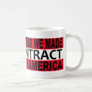 2010 The Year we Made CONTRACT with America Classic White Coffee Mug