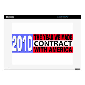 2010 The Year we Made CONTRACT with America Skin For Laptop