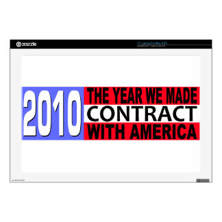 "2010 The Year we Made CONTRACT with America Decal For 17"" Laptop"