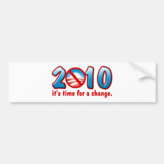 2010 Time for a Change (Anti Obama) Bumper Stickers