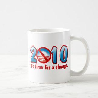 2010 Time for a Change (Anti Obama) Coffee Mug