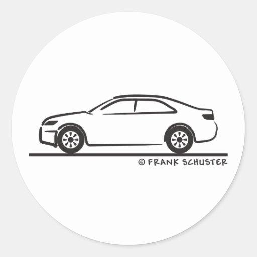 2010 toyota camry classic round sticker