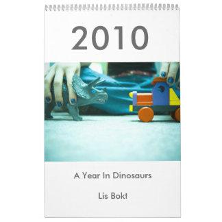 2010: Un año en dinosaurios Calendario De Pared