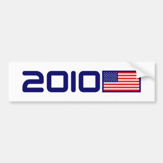2010 USA FLAG BUMPER STICKER