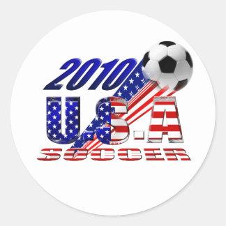 2010 USA Soccer Classic Round Sticker